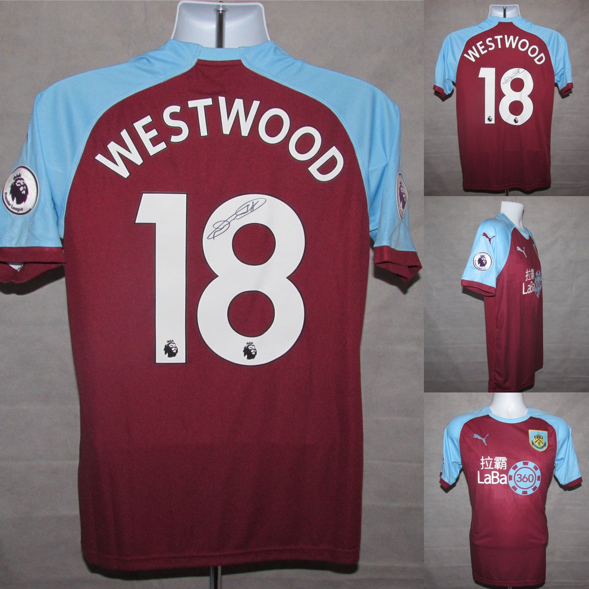 #FootballMemorabilia available at https://www.footballshirtwarehouse.com/2018-2019--burnley-fc-home-football-shirt-signed-by-ashley-westwood-18-bnwt-2-573-p.asp …  #BurnleyFC #burful #ashleywestwood signed #clarets shirt #epl. #premierleague
