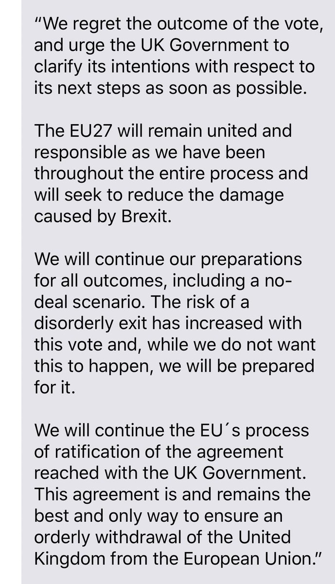 """""""The risk of a disorderly exit has increased with vote"""": European Council president spokesman for Tusk:"""