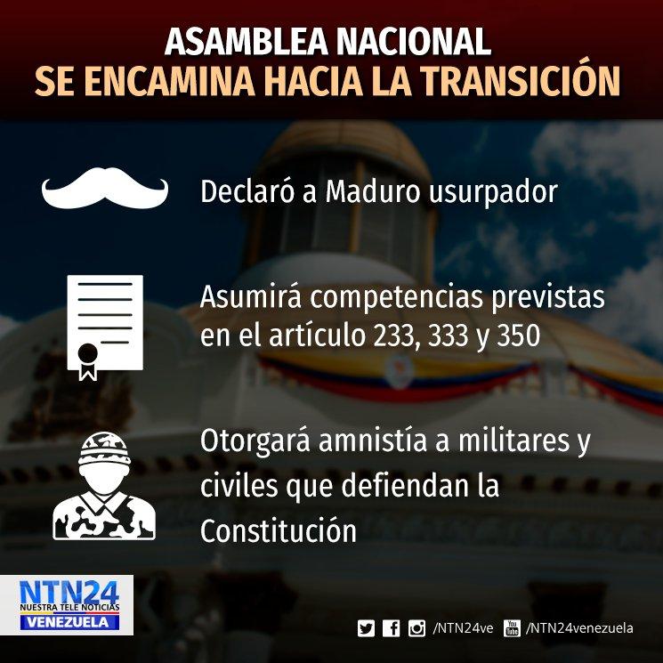 AN declaró a Maduro usurpador y asume competencias 'para restablecer hilo constitucional' https://t.co/DWRT9Penca https://t.co/94fZ9DMhMc