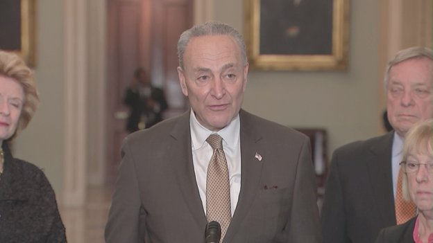 .@SenSchumer says he'll meet with Pres Trump 'any time he wants.' Says the last time was last Wednesday, when Schumer says @POTUS 'threw a temper tantrum and walked out' of the border security talks. Says he hasn't hear d from the president since then.