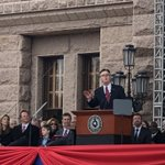 A great day in Texas at the inauguration of @GovAbbott and Lt. Gov. @DanPatrick.  Looking forward to working together for Texans! #TXlege