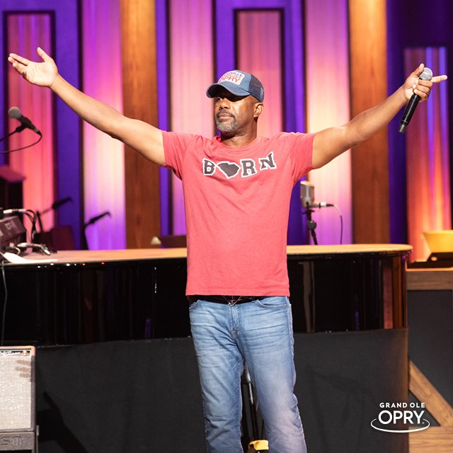 No one wears an #Opry hat quite like #OpryMember @dariusrucker!  #NationalHatDay<br>http://pic.twitter.com/XZhTCCAgbS
