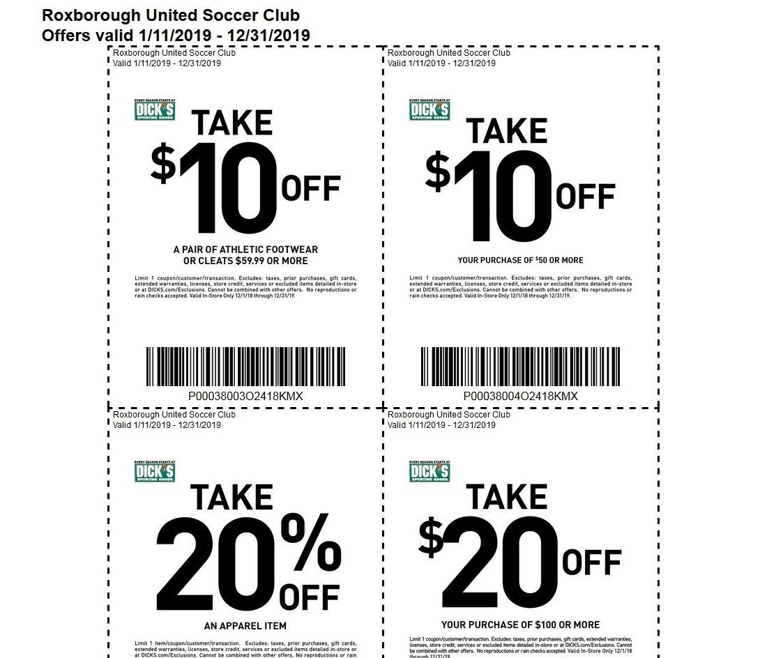 dicks sporting goods coupons 2020