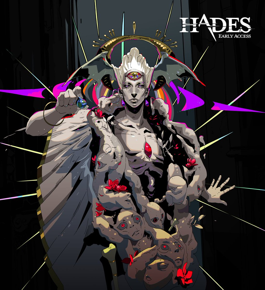 #Hades Chaos Update is out!  :D Spoilery portrait complete with fetus at your service!