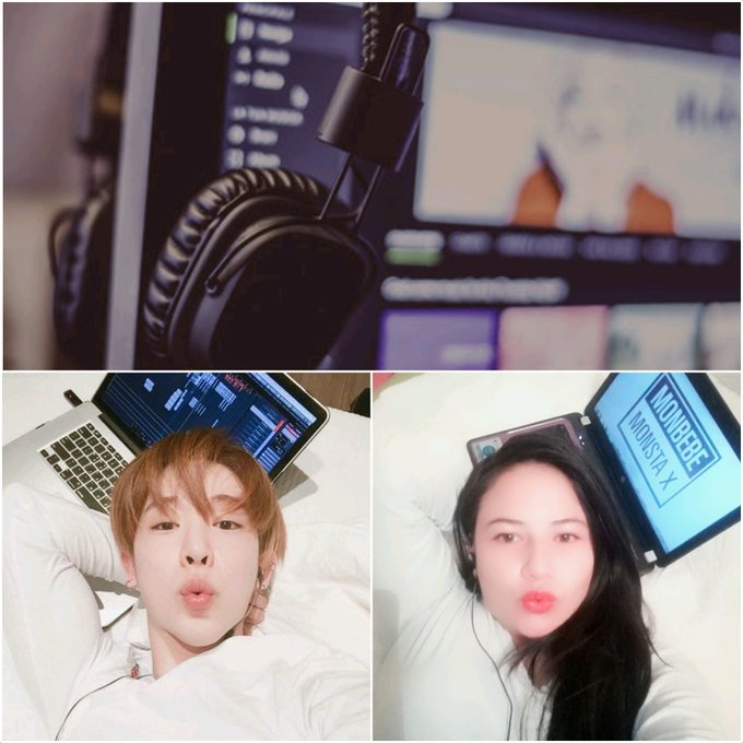 I loved you yesterday, I love you today, and if you leave me, I will always love you. 💕🎶@OfficialMonstaX #monbebeselcaday #WONHO Photo