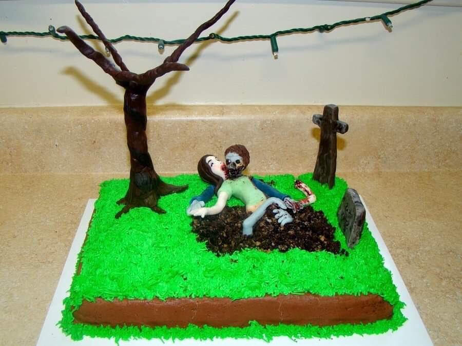 ZOMBIE Cake by Leslie Bruckman via Cake Central. #GhastlyGastronomy <br>http://pic.twitter.com/i3Ug3GB6M3