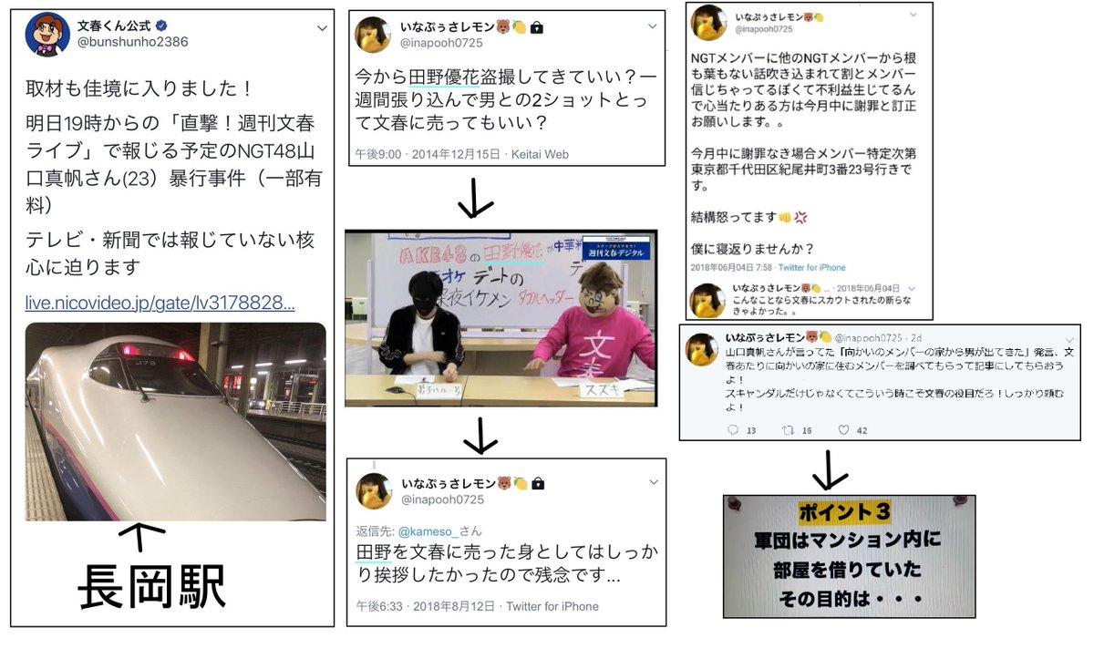 いなぷぅ「文春と闇取引」「文春に150万円で売ります」 文春さん「AKBネタの情報源は明かせない」