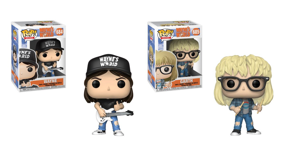 RT & follow @OriginalFunko for a chance to WIN these Wayne's World Pop!s