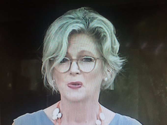 """Independent candidate for Indi Dr Helen Haines has been endorsed by retiring MP #CathyMcGowan. """"We need intelligent women. We need rural women. I really want to lift the debate,"""" she says. Photo"""