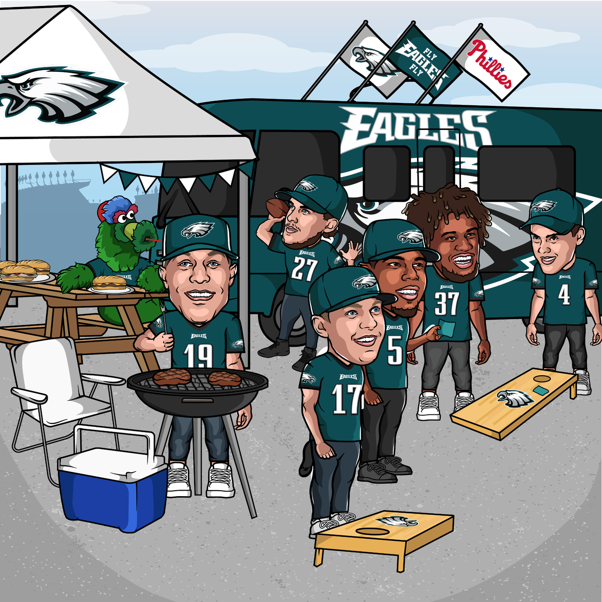 Counting down to kickoff ...  Take care of business today, @Eagles! #FlyEaglesFly