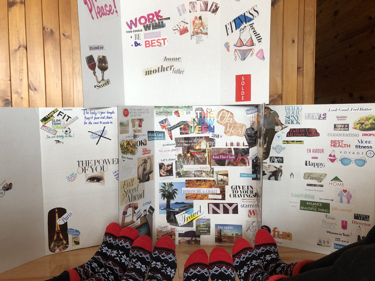 #SockTwinsies & #VisionBoards on our Girls Getaway up North...