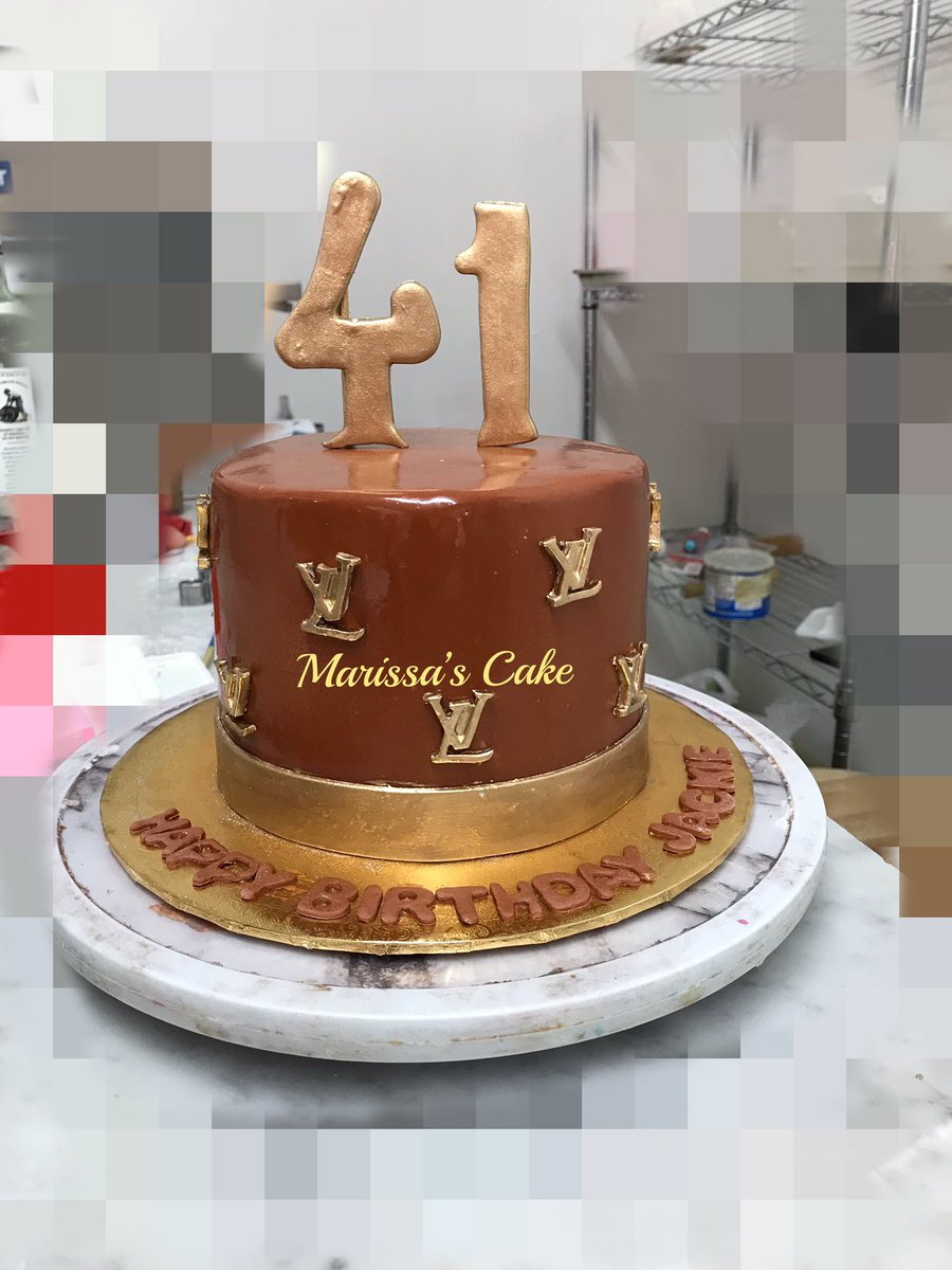 Incredible Marissas Cake On Twitter Louis Vuitton Birthday Cake Funny Birthday Cards Online Alyptdamsfinfo
