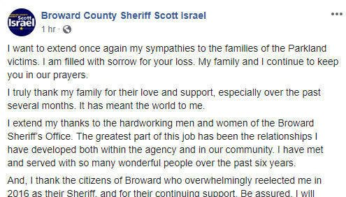 Read Scott Israel's full statement after his suspension https://t.co/M6cuAn90V1