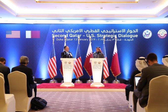 البيان المشترك للحوار الاستراتيجي القطري الأمريكي الثاني : معا إلى الأمام #وزارة_الخارجية_قطر @StateDept صورة فوتوغرافية