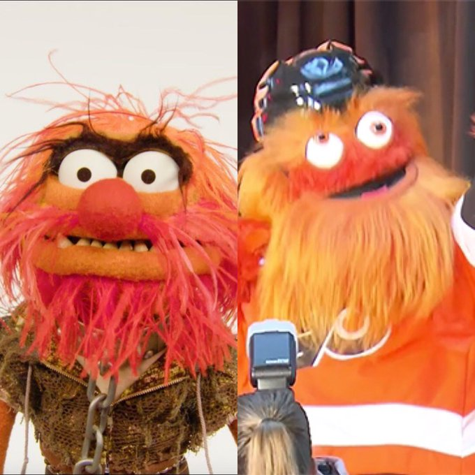 Stumbled across some old pics of Gritty day after a victory! 2009 vs 2019 #HowHardDidAgeHitYou Photo