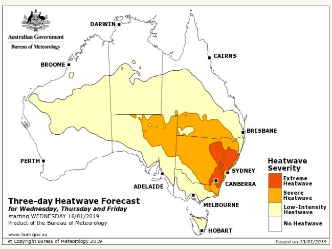 A hot week ahead for NSW, with severe to extreme heatwave conditions forecast. Stay cool, keep hydrated, look out for the vulnerable and have a plan to #BeatTheHeat #NSWweather Photo