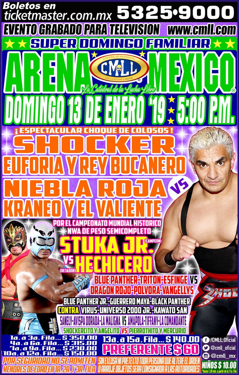 CMLL: Stuka Jr. defiende su cinturón en gran lucha 2