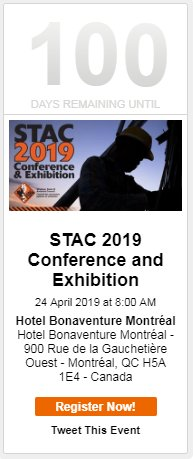 test Twitter Media - Only 100 days remaining until #STAC2019 in Montreal! Register before our February 1st early bird deadline and receive 20% or more off your ticket price. For more information or to register visit:  https://t.co/ZofHMuwAMx https://t.co/SRMUOYaYm3