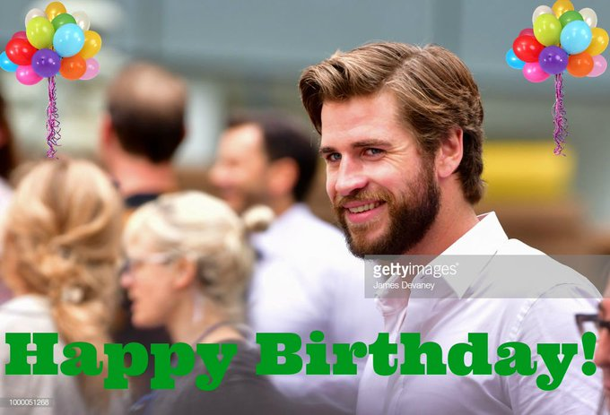 You have seen him in The Hunger Games. Please help me wish Liam Hemsworth a Happy Birthday today!