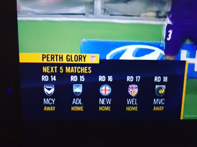 @FOXFOOTBALL I know it's been a long week but not getting even one logo right? ;-) @ALeague #thatswhatyoucallabadday #PERvWSW Photo
