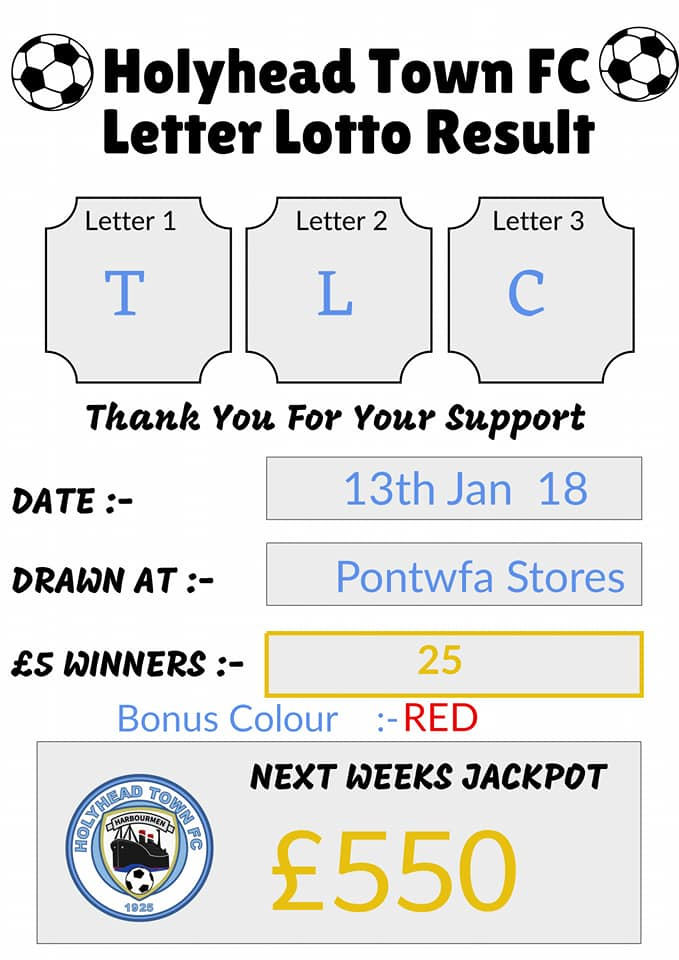 Tonights Letter Lottery result: #ThankYouForYourContinuedSupport