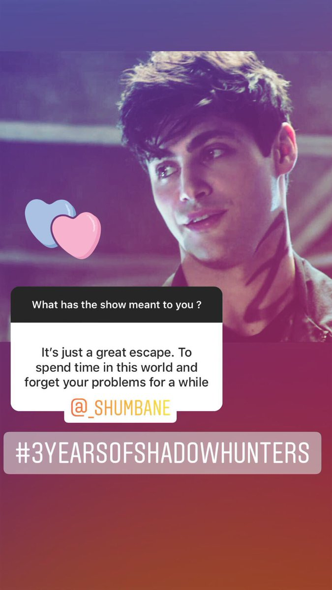 "Basic Shadowhunters Stuff on Twitter: ""Having a great time over on our  Instagram reading through some of your responses about what #Shadowhunters  means to you. #3YearsofShadowhunters Go check out these and more"