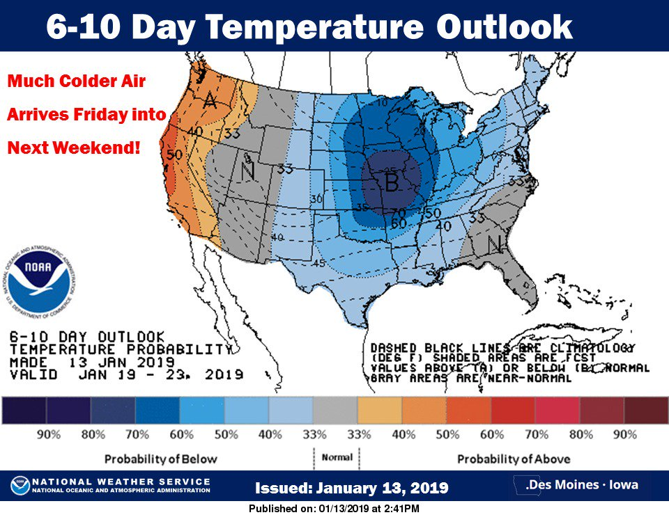 Much colder air on the way by Friday and into next weekend! #iawx