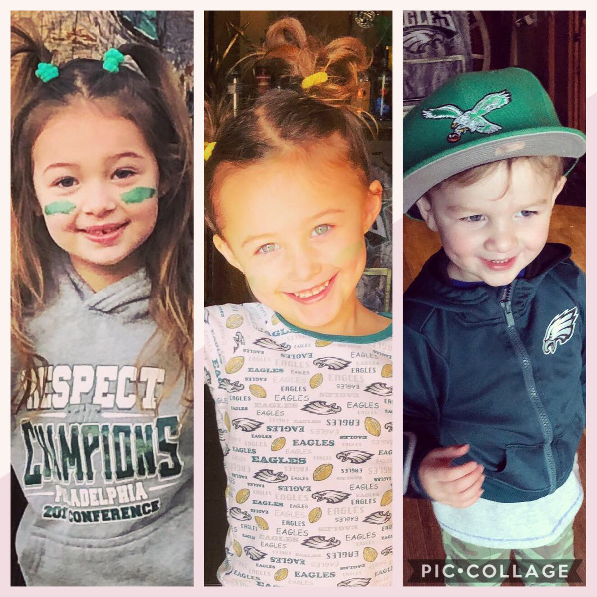 Layla, Savannah, and Johnny are ready to cheer on the birds ! Let's go!!!!  @AlexHolleyFOX29  #PhiladelphiaEagles #fox29goodday <br>http://pic.twitter.com/yVXVboc81S