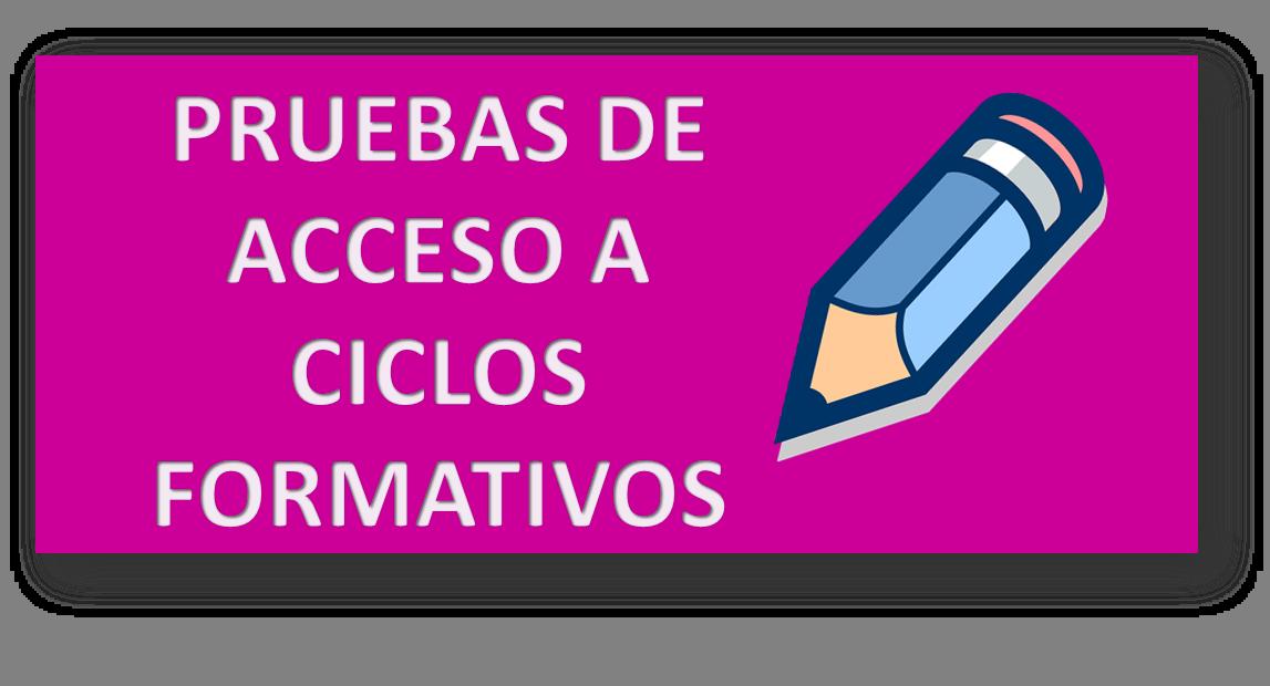 Itnerarioseducativos On Twitter Pruebas De Acceso A Ciclos