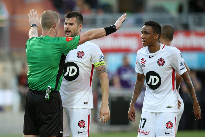 "Markus Babbel was NOT happy about the officiating in #PERvWSW. 🗣️ ""If they don't see it, then they're f***ing blind ... the quality is not good enough. #ALeague Photo"