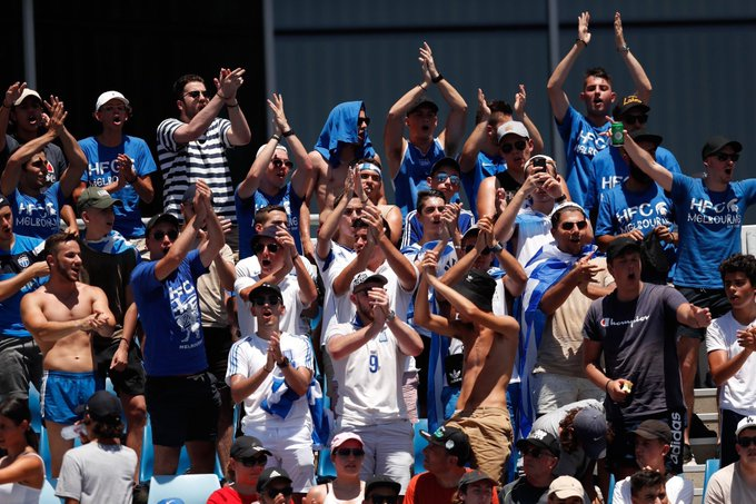 The Greek army are the absolute best. You can hear them from all corners of Melbourne Park! #AusOpen  📸 - @AustralianOpen Photo