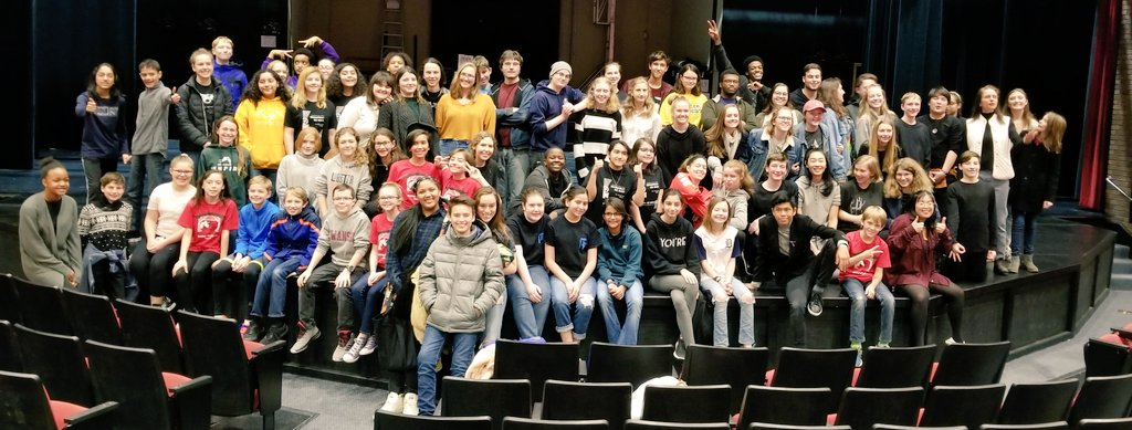 APS Theater Festival Jan 12. We presented scenes from Runaways and Peter and the Starcatcher and got to meet so many wonderful middle school students! <a target='_blank' href='https://t.co/LBr9X5rCdu'>https://t.co/LBr9X5rCdu</a>