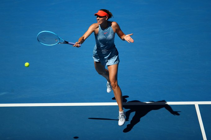 Watch Maria Sharapova speak to the press after cruising to a 6-0, 6-0 win in #AusOpen opener   Photo