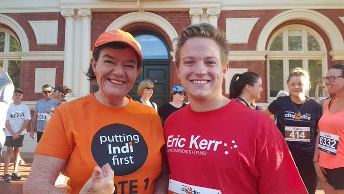We wish to congratulate Cathy McGowan for her service as local MP & wish her the best as she steps away from the role. In politics there are lots of disagreements but there must always be respect & we deeply respect the time she has given to community. All the best! #Indi - Eric Photo