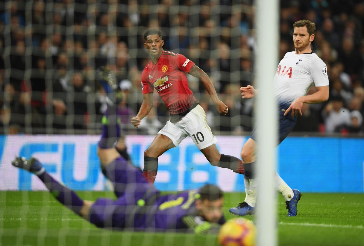 Marcus Rashford has scored in three consecutive #PL games for the first time in his career