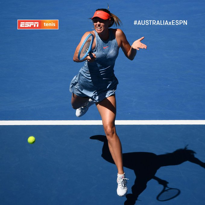 #AUSTRALIAxESPN Un trámite para Maria Sharapova: 6-0 y 6-0 ante Harriet Dart. La rusa mostró un tenis impecable para ganar en una hora y cuatro minutos. Photo