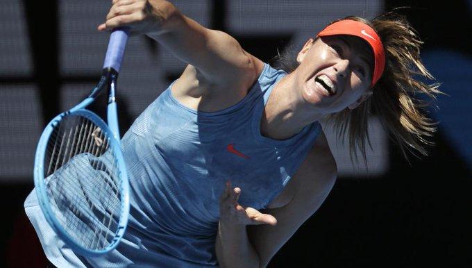Doble rosco de Maria Sharapova en su estreno en el Open de Austalia Photo