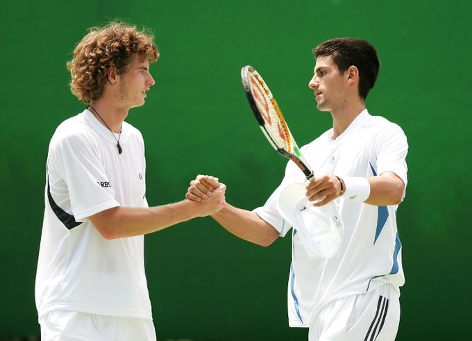 .@andy_murray made his Australian Open debut back in ...and guess who he played doubles with that year! 😲😎 @DjokerNole #ATP Photo