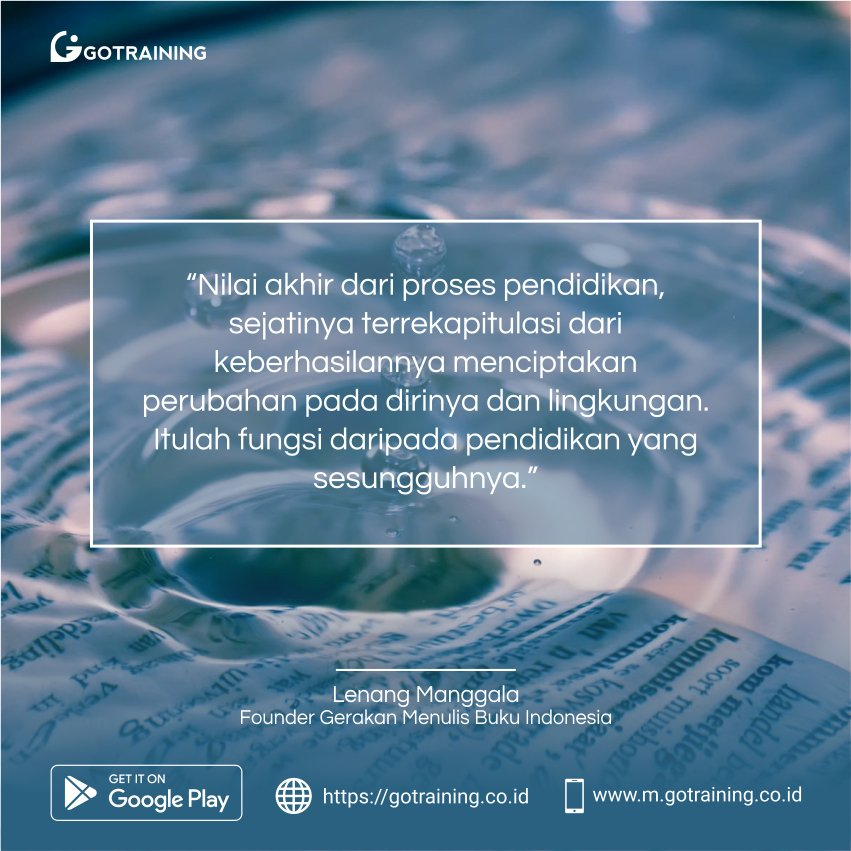 Selamat pagi GOTPeople!   Ayo jadi pribadi yang lebih baik dari hari kemarin :D  #selasa #belajar #kelasonline #online #elearning #gotraining #gotrainingcoid #study #edukasi #education #class #teen #kutipan #weekday #quotes #indonesia #bahasa #menulis #bacabuku #book #buku #fun