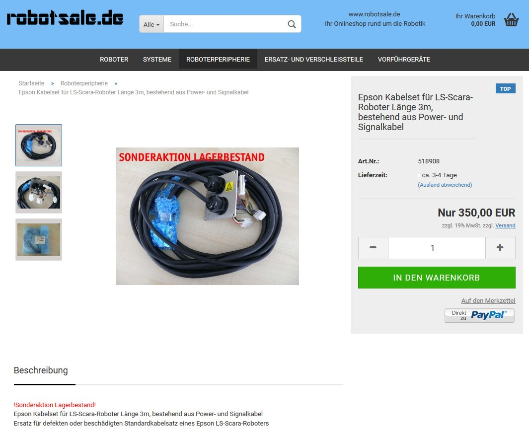 #Epson #Kabelset für LS-#Scara-#Roboter, 3m, bestehend aus Power- u. Signalkabel für 350€ zzgl. MwSt im #Onlineshop: https://www.robotsale.de/product_info.php?info=p37_epson-kabelset-fuer-ls-scara-roboter-laenge-3m--bestehend-aus-power--und-signalkabel.html… @robotsale_de