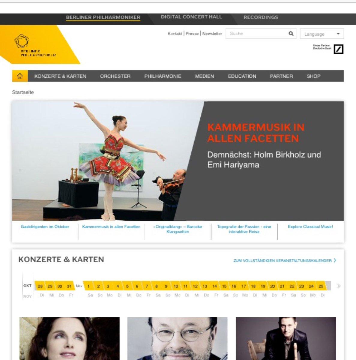 ベルリンフィルハーモニーとコラボレーションしてベルリンフィルで踊らせていただいたときのウェブサイトトップページの写真シェアさせていただきます。振り付け、演出、衣装、踊りすべて担当させていただきました。Found this ....Top page of Berlin philharmonic when I did collaboration