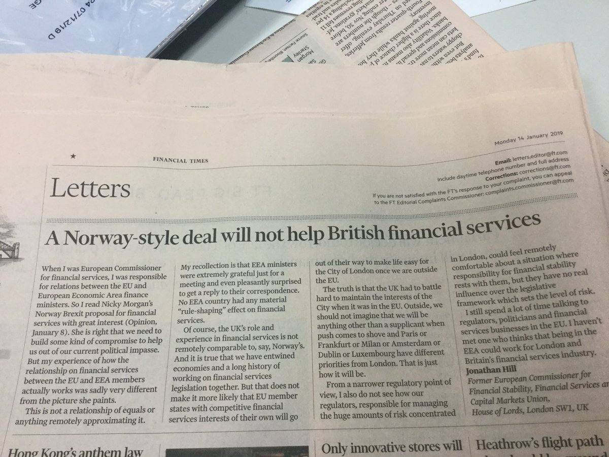 Letter of the day @FT for all Brexit junkies #Norway  #PlanB