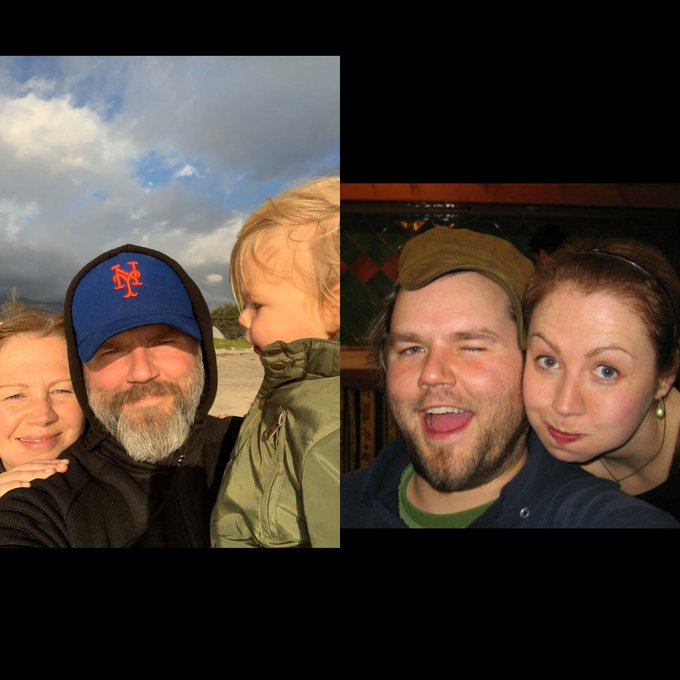 """First post on the right 2007. Last post on the left 2019. 12 years. Safe to say I have aged a shit ton! kinda like it. I look like a different human being but maybe a better one? My babe wife on the """"Alright, alright, alright."""" #HowHardDidAgeHitYou Photo"""
