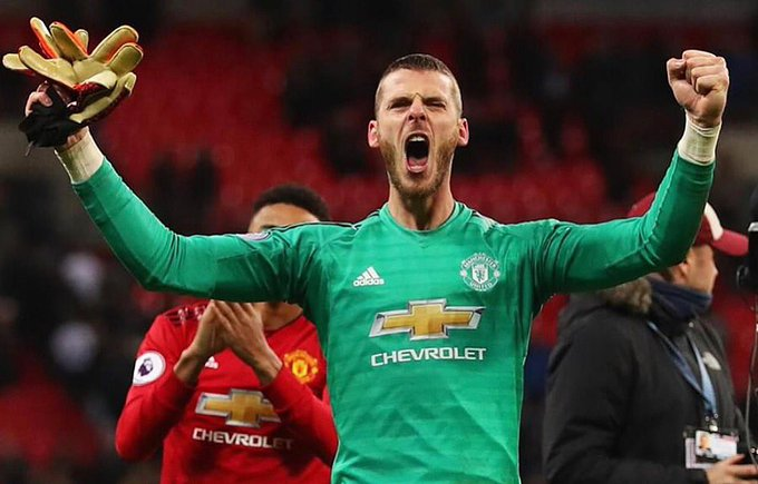 He showed he did went through him 👐🏻⚽️🙌🏻 It is rare to see a goalkeeper winning Man of the Match and it was #DeGea day yesterday with a stellar performance, one of the best in recent times #TOTMUN Almost stopped shots from every spurs player. Photo
