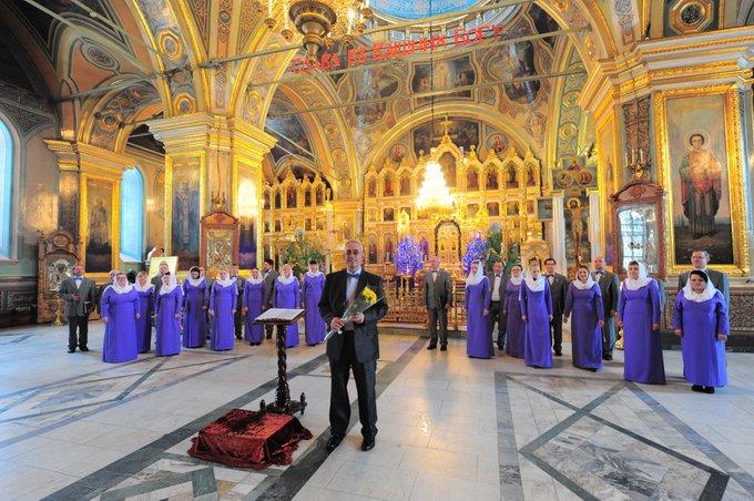 Традиционный рождественский концерт муниципального академического хора «Многолетие» в Казанском кафедральном соборе Фото