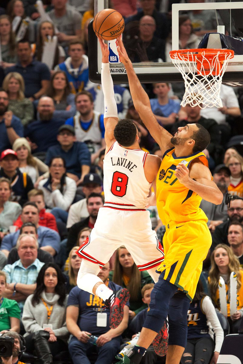 Rudy Gobert last night v. Chicago 15 points on 6 FGA 16 rebounds  8 assists that lead to 21 points  14 screen assists that lead to 34 points 16 contested shots  Created 70 offensive points  Bulls shot 53% at the rim last night #nbavote #tripledoublewithscreenassists<br>http://pic.twitter.com/cpyicjOyGP