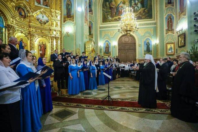 В Казанском кафедральном соборе Ставрополя прошел Рождественский хоровой собор Фото