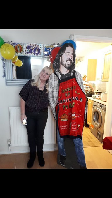 Happy 50th Birthday to Dave Grohl. Thanks for coming to my 50th, what a guy! #FooFighters #radiogrohl @ChrisMoyles @RadioX Photo
