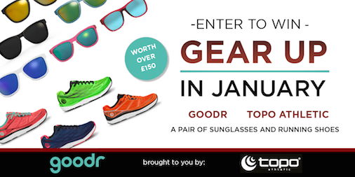 RT this & follow @topoathletic to be in the Wednesday 16th January 9pm draw to win a pair of @goodr sunglasses and a pair of @topoathletic Running Shoes together worth over £150! We will have one lucky winner. Good luck! #ukrunchat #uktrichat