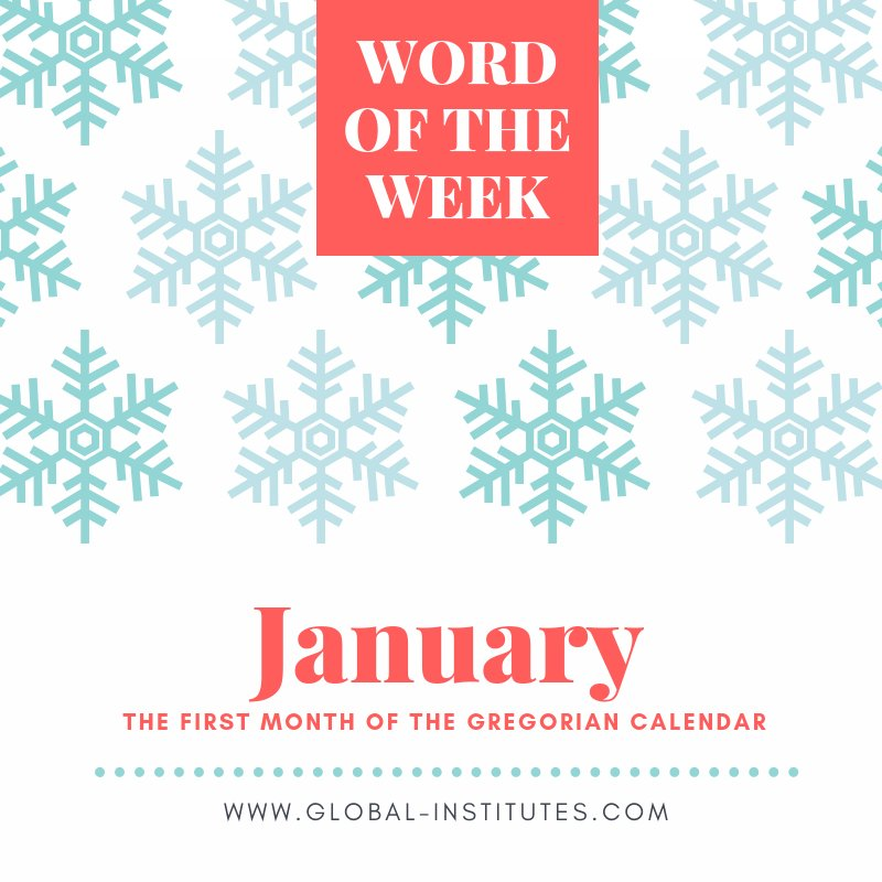 This week's word of the week is January. Practice using it this week so you remember is better. #inglese #parola #parolanuova #gennaio #mese #impara #imparare #goglobal #acilia